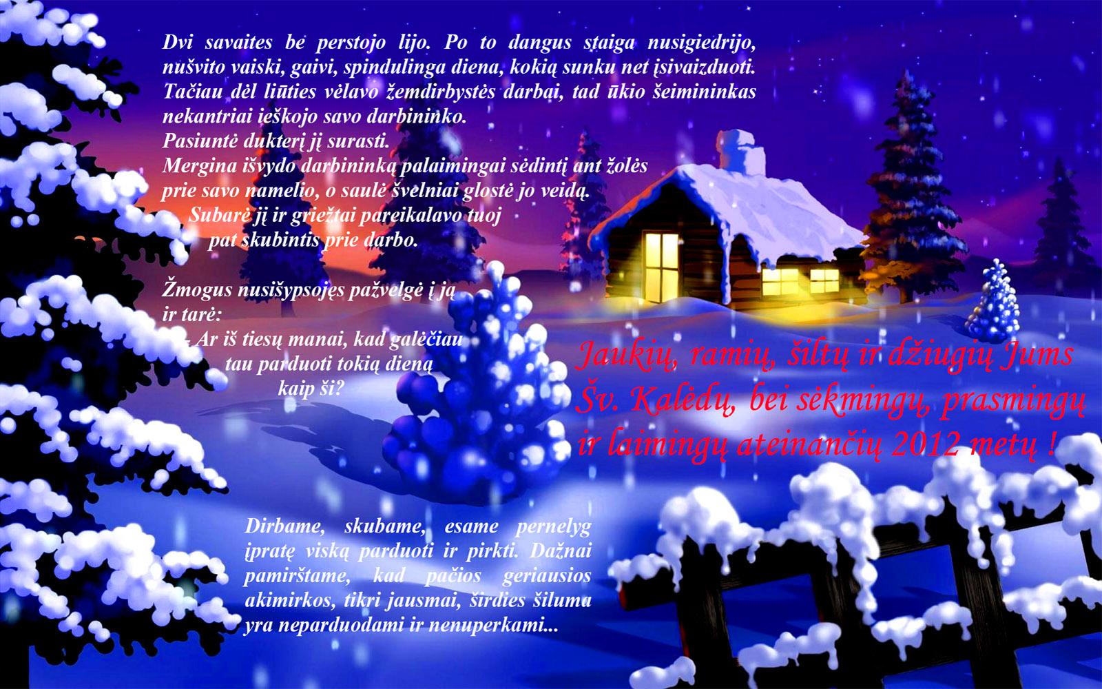 Merry Christmas Picture.Kalėdiniai Sveikinimai Merry Christmas
